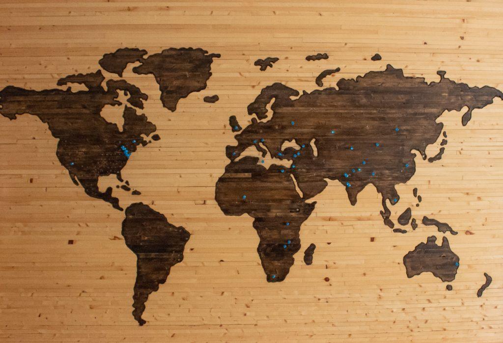 世界地図の写真