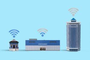 海外でインターネット接続の写真