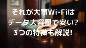 それが大事Wi-Fiは安いの写真