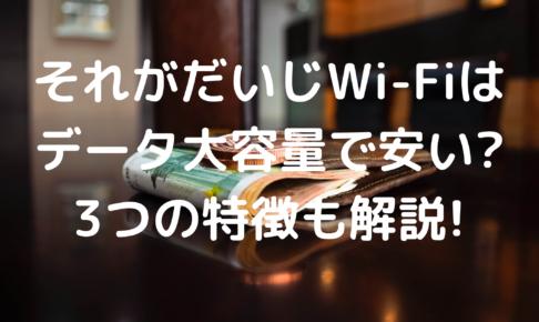 それがだいじWi-Fiの写真