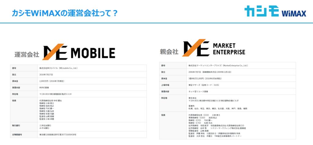 MEモバイルの写真