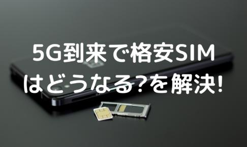 5G時代の格安SIMの写真
