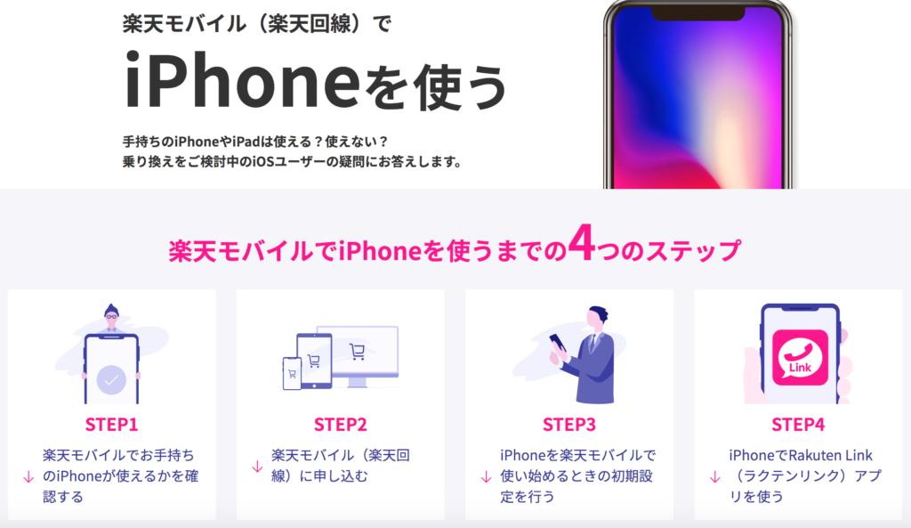 楽天モバイルでiphoneを使う写真