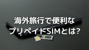 プリペイドSIMの写真