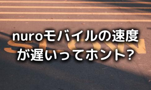 nuroモバイルの速度の写真